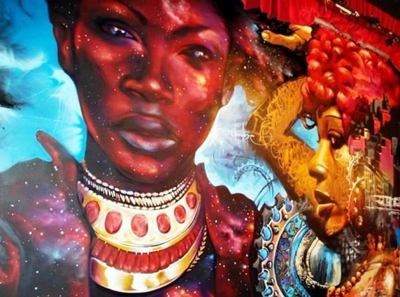 African Woman Mural